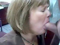 Mature Head #71 Two vids of the Office Slut doing her Job